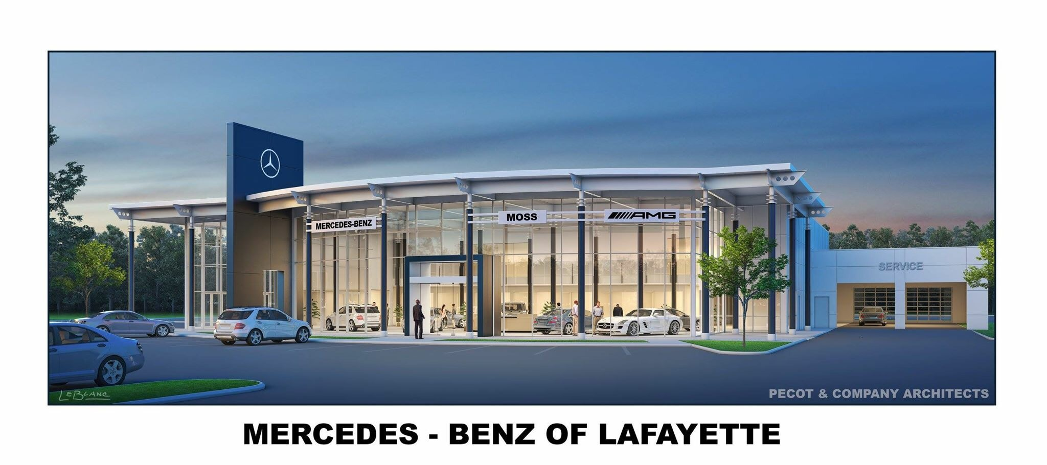 New state of the art mercedes benz facility truck for Mercedes benz of lafayette lafayette in